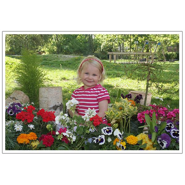Außen mit Blumen 3